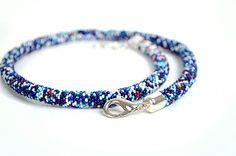 crochet rope #beadwork, #jewelry