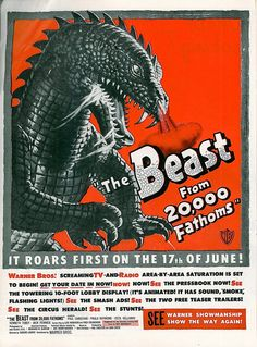 The Beast from 20,000 Fathoms (1953) trade ad