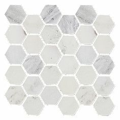 Thinking about something like this veined hexagonal tile for our small half-bathroom floor, although something darker might be better.  From the Tile Shop.