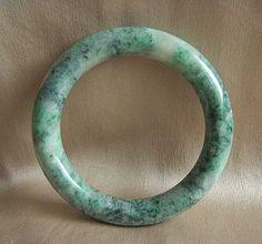 Rare antique/vintage natural jade bangle bracelet