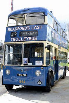 Bradford's last trolley bus