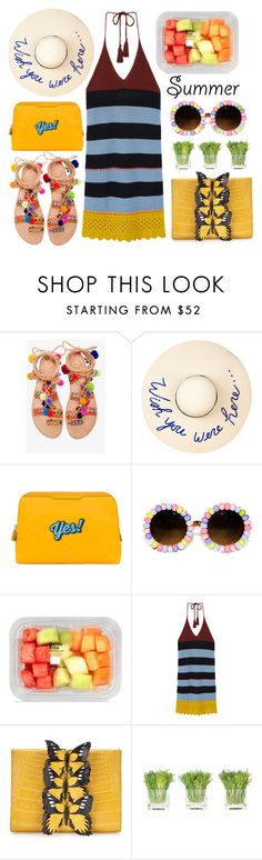 """Easy, Breezy & Colorful"" by karineminzonwilson ❤ liked on Polyvore featuring Elina Linardaki, Eugenia Kim, Anya Hindmarch, MANGO, Nancy Gonzalez, NDI, Summer and summerhat"