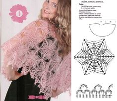 such an arachnean shawlette! Doesn't its motif look like a snowflake? <3<3<3