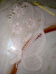"""""""I want a tattoo of the lace design from part of my wedding dress post wedding. As a permanent reminder of the day I say my vows"""" <what an awesome idea! Crochet Doily Patterns, Macrame Patterns, Lace Patterns, Crochet Motif, Crochet Doilies, Crochet Lace, Crochet Stitches, Dress Patterns, Russian Crochet"""