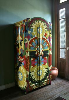 Ordinaire Painted Armoire · Hand Painted FurnitureFunky ...