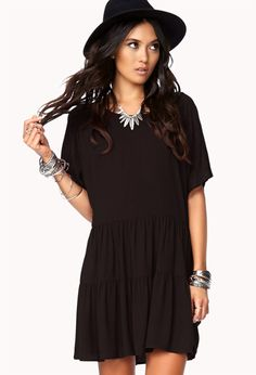 Classic Cutout Tiered Dress | FOREVER21 - 2002246342
