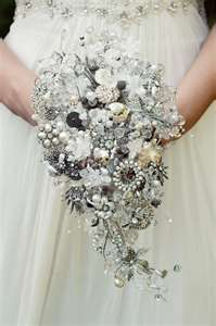 sparkly brooch bouquet