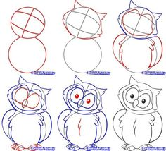 how to draw an owl by loulounwoozlewoo