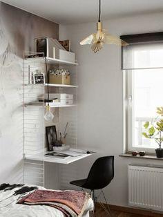 Small corner home office idea - Daily Dream Decor