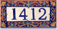 House Number Address tiles Country French Style.