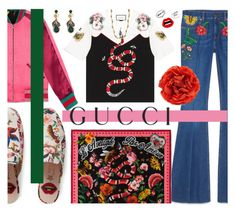 """Presenting the Gucci Garden Exclusive Collection"" by miee0105 ❤ liked on Polyvore featuring Gucci, Diane Von Furstenberg and gucci"