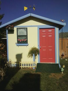 My shed in the backyard is cute enough to be a playhouse!
