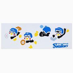 注染スワローズ手拭い(珍プレイ・好プレイ)   東京ヤクルトスワローズ オフィシャルネットショップ