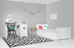 białe biurko dla dziecka - proste - meble Bellamy - elies.pl