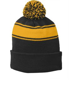 39 Best Knit Pom Beanies with your Company Name or Custom Logo. images cdf539dae63d