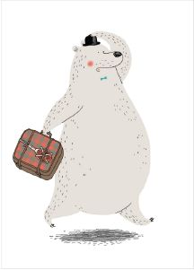 Bear Illustration Poster for a Kids room by Dominique Le Bagousse Abstract Illustration, Children's Book Illustration, Character Illustration, Illustration Vector, Art D'ours, Illustration Mignonne, Bear Art, Cute Bears, Kids Room