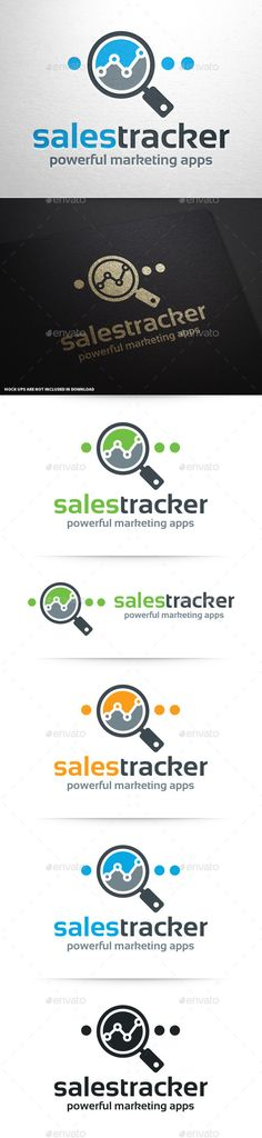 Sales Tracker Logo Template  #vector #sales #chart #stats #analytics #analyze #marketing #magnifying #glass #zoom #seo #webdesign #web #online #charts #logo #logodesign #corporate #identity #colorful #business #agency #freelance #company #graphicriver #envato #sale #buy
