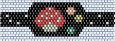 ESQUEMA DE AINHARA Peyote Stitch Patterns, Bracelet Patterns, Beading Patterns, Seed Bead Earrings, Seed Beads, Diy Rings, Beaded Rings, Groomsmen, Bracelets