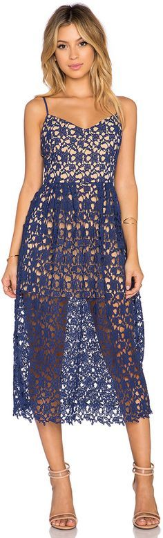 @roressclothes closet ideas women fashion outfit clothing style apparel Toby Heart Ginger x Love Indie Bella Crochet Midi Dress