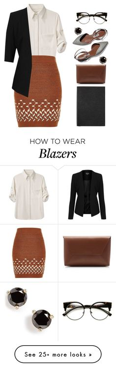 """Lauren"" by vintagenerd8 on Polyvore featuring rag & bone, River Island, Topshop, Smythson, INDIE HAIR, J.Crew and Kate Spade"