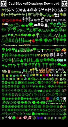 All Tree and Plants Blocks – CAD Design | Free CAD Blocks,Drawings,Details