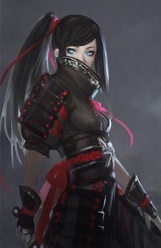 Imagem de anime, anime girl, and black