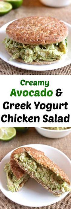 Healthy Chicken Salad made w/ NO mayo! // healthy-liv.com