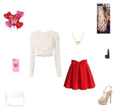 """""""happy Valentine's day 💖"""" by synclairel ❤ liked on Polyvore featuring Chicwish, A.L.C., Pelle Moda, NARS Cosmetics, David Yurman, Casetify and Charlotte Russe"""