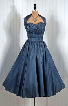 Pretty slate blue Fred Perlberg, c. 1950s
