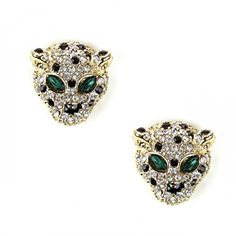 Tiger Stud Earring  in Gold || You can't tell me these aren't fabulous.