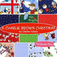 A Charlie Brown Christmas Fat Quarter Bundle Charles Schulz for Quilting Treasures - Fat Quarter Shop