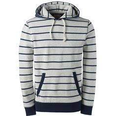 Lands' End Men's Long Sleeve Stripe Sweats Pullover Hoodie - Serious ($25) ❤ liked on Polyvore featuring men's fashion, men's clothing, men's hoodies, mens jackets, tops, grey, mens grey hoodie, mens hoodies, mens hooded sweatshirts and mens hoodie Men's Hoodies, Mens Sweatshirts, Men's Fashion, Fashion Stores, Grey Hoodie, Lands End, Men's Clothing, Man Sweater, Pullover