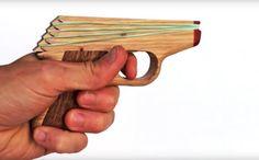 PPK Semi-Automatic Rubber Band Hand Gun