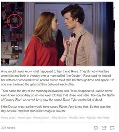 Doctor who. amy pond knew rose? Sith, Fandoms, Sherlock, Serie Doctor, Harry Potter, 11th Doctor, Don't Blink, Torchwood, David Tennant