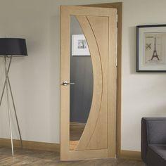 Bespoke Salerno Oak Glazed Door - Prefinished. #glazeddoor #oakdoor #bespokedoor