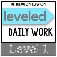 This product will last you seamlessly from August to June - the ENTIRE school year! This resource contains 180 interchangeable leveled daily work pages to ensure that your students are completing different work each day. by theautismhelper.com
