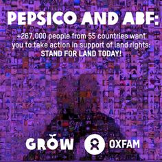Take action to help #stoplandgrabs! Check out our beautiful #StandforLand artwork. 267,000 actions. 1100 photos. 60 countries. 1 ask: PepsiCo and Associated British Foods - make sure your sugar doesn't lead to land grabs! http://www.behindthebrands.org/en/campaign-news/take-action