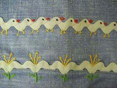 Patos y flores con espiguilla