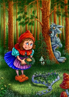 View album on Yandex. Cute Characters, Disney Characters, Fictional Characters, Fairytale Art, Red Riding Hood, Conte, Little Red, Cute Wallpapers, Illustrators