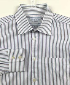 CHARLES TYRWHITT Men's Extra Slim Fit Long Sleeve Dress Shirt Size 16 - 35  #CharlesTyrwhitt