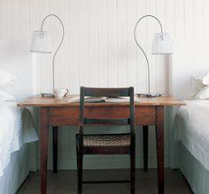 love this. table & chair + white.