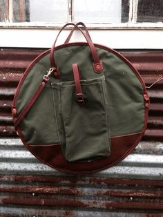 Canvas and Leather Cymbal Bag 22