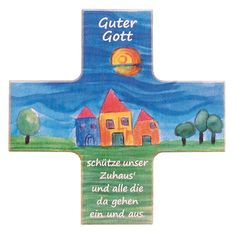 Kinder Haussegen Guter Gott Buchenholz 12 cm – Bild 1
