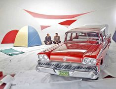 Ford Motor Co. Image - Late-1950s Ford Wagon