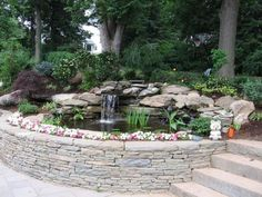 Raised Backyard Pond, would want as part of front walk way,, what a nice way to say Hello or goodbye to guest