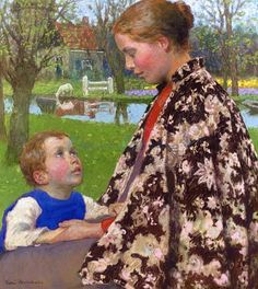Mother and Child by the Sea, artist Gari Melchers I am not familiar with this artist but I am glad I have seen her work now on Pinterest
