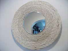 Inspired sisal rope mirror
