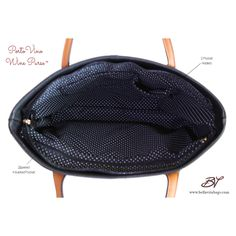 The interior of the PortoVino Wine Purse. ac83479a3c525