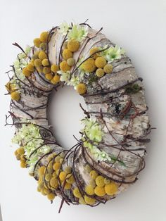 Dried Flower Wreaths, Holiday Wreaths, Dried Flowers, Christmas Decorations, Deco Floral, Art Floral, Flower Factory, Floral Hoops, Nature Decor