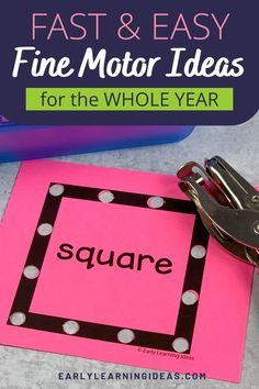 Kids love these hole punch activities. Use the printables to build fine motor skills, for hand strengthening, and to improve hand-eye coordination in a fun and exciting way. Perfect for your preschool, pre-k, kindergarten, special education, occupational therapy classroom, or at home. The printables include shapes and many themes and seasonal printables to use during spring, summer, winter, and fall. Learning Centers, Early Learning, Fun Learning, Fun Math Activities, Hands On Activities, Kids Punch, Teaching Shapes, Interactive Learning, Building For Kids